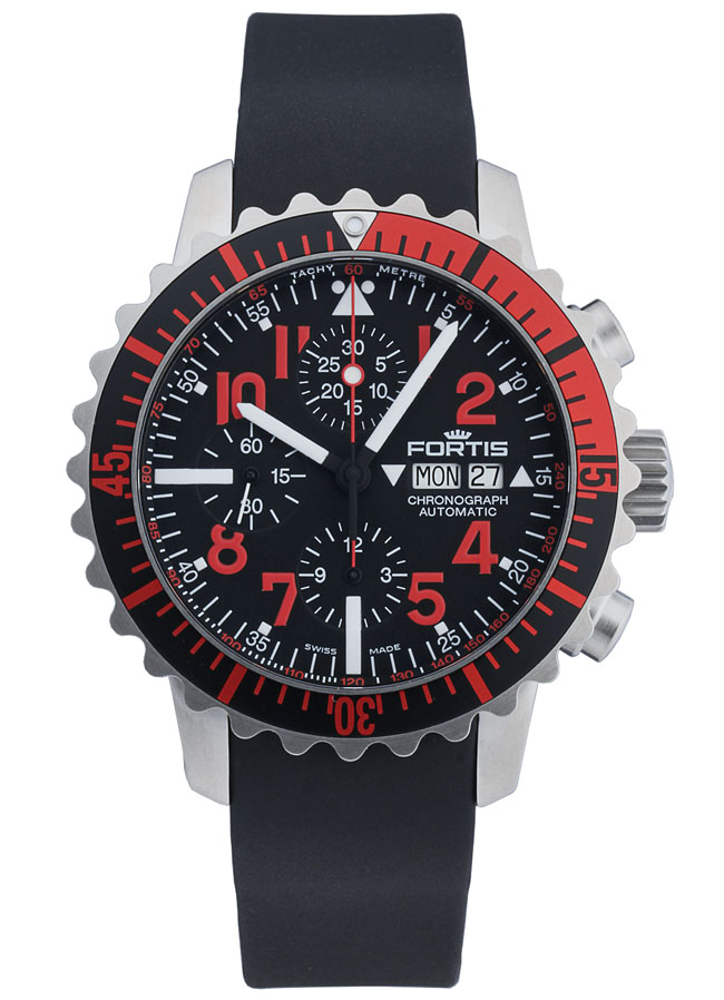 Fortis b 42 marinemaster chronograph red automatik for 902 10 23 43