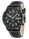 Zeno Watch Basel XL Pilot Blacky Chronograph P557TVDD-bk-a1