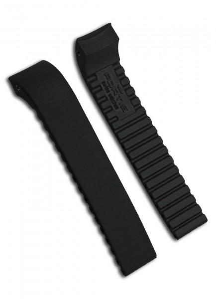 Fortis Uhrenarmband Kautschuk/Silikon Schwarz 20mm/18mm
