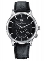 Claude Bernard Classic 2nd Time Zone Großdatum GMT Quarz 62007 3 NIN
