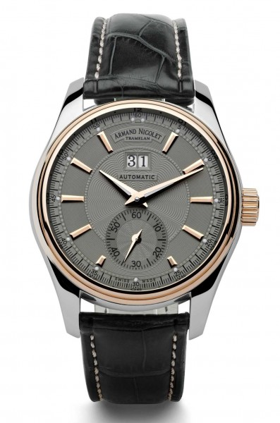 Armand Nicolet M02 Big Date & Small Seconds 8646A-GR-P974GR2