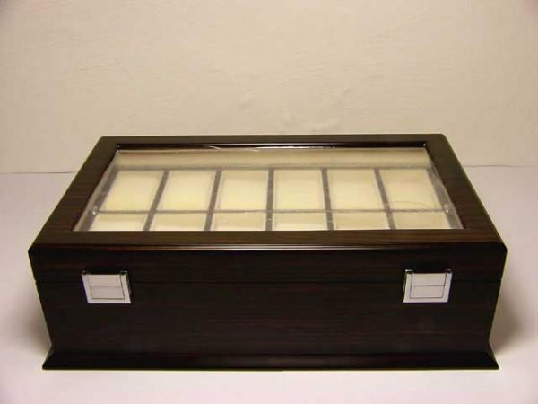 Uhrenbox für 24 Uhren / MACASAR mit Fenster - FW24-M03