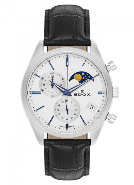 Edox Les Vauberts Chronograph Mondphase Datum Quarz 01655 3 AIBU