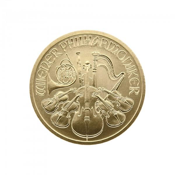 """1/2 oz Österreich 2017 """"Wiener Philharmoniker"""" 50 Euro 999,9 Goldmünze"""