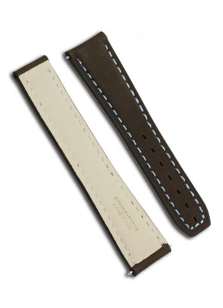 Armand Nicolet J09-1 Uhrenarmband Leder Brau 22mm/18mm
