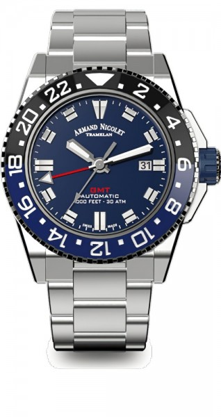 Armand Nicolet JS9 GMT Datum Automatik A486AGU-BU-MA4480AA