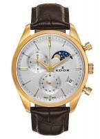 Edox Les Vauberts Chronograph Mondphase Datum Quarz 01655 37J AID