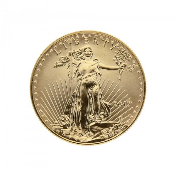 "1/2 oz USA 2017 ""American Gold Eagle"" 25 Dollar Goldmünze"