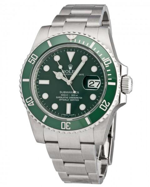 Rolex Submariner Green Date ungetragen aus 2013 116160LV
