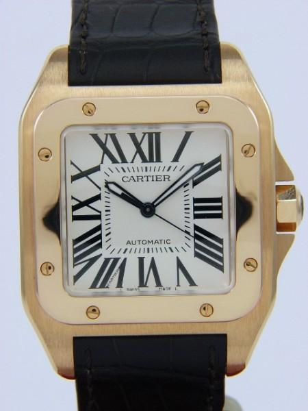 Cartier Santos 100 XL in 18Kt Gold W20095Y1