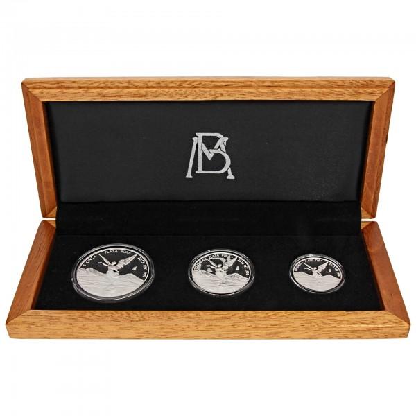 2013 Mexiko Libertad Siegesgöttin 1,75 oz PP/Proof-Set (3 Münzen) - 999/1000 Silber