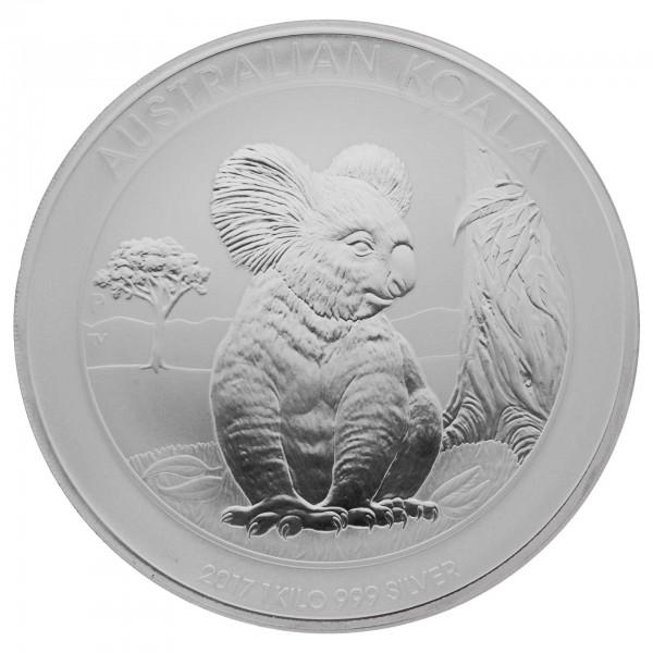 1 Kg Australien 2017 Koala 9991000 Silbermünze 1 Kilo 30 Aud