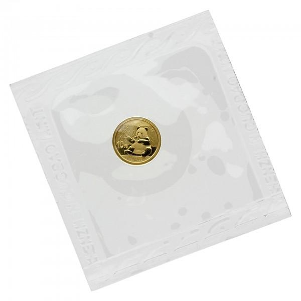 """1 g China 2017 """"Panda"""" 10 CNY Goldmünze 999/1000 Gold (in Hersteller Folie)"""