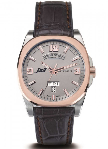 Armand Nicolet J09 Day Date Automatic 8650A-GS-P965GS2