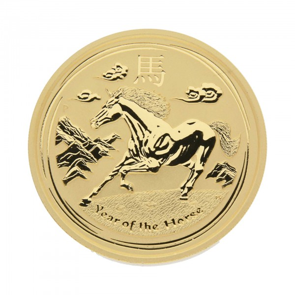 "2 oz Australien 2014 Lunar Serie II ""Year of the Horse"" (Pferd) - 2 Unzen 999,9 Goldmünze"