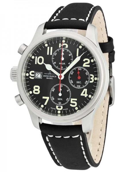 Zeno Watch Basel NC Pilot Linkshänder Chronograph 9557tvd-left-a1