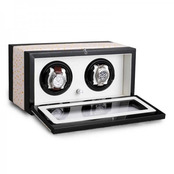 Uhrenbeweger für 2 Uhren UBO2050 - Weiß