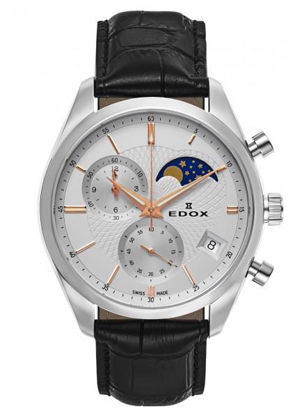 Edox Les Vauberts Chronograph Mondphase Datum Quarz 01655 3 AIR