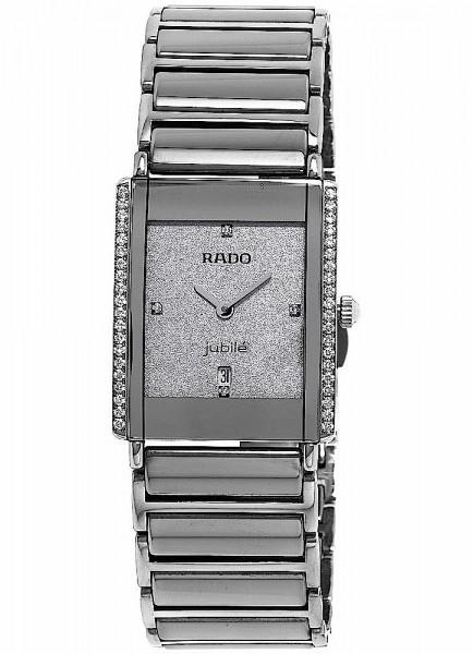 Rado Integral Jubilé Damenuhr mit Diamanten Datum Quarz R20429722