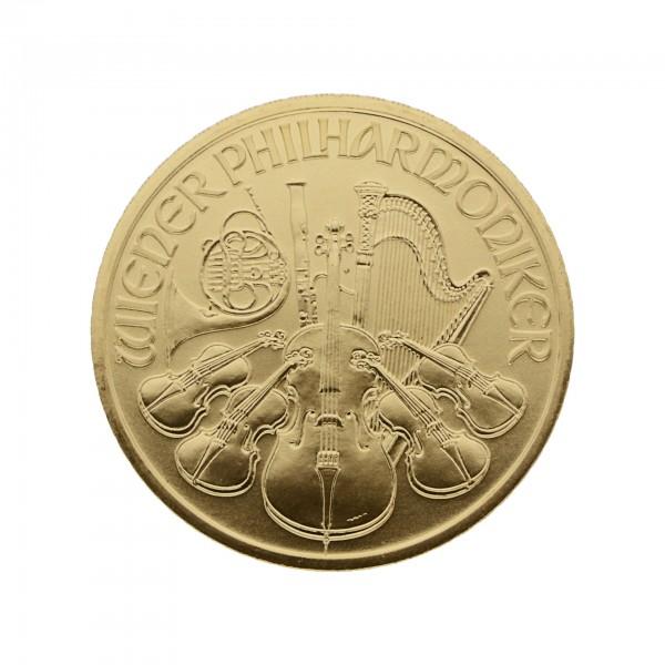 """1 oz Österreich 1998 """"Wiener Philharmoniker"""" 2000 Schilling 999,9 Goldmünze"""