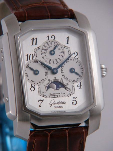 Glashütte Original Karree Ewiger Kalender Handaufzug