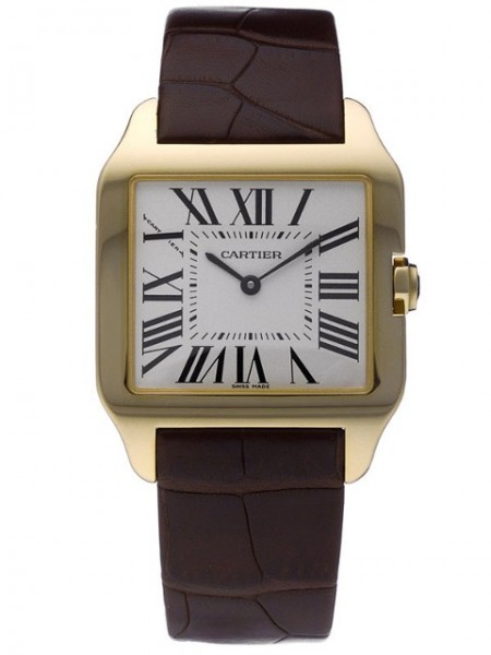 Cartier Santos Dumont Damenuhr in 18Kt Gold W2009351