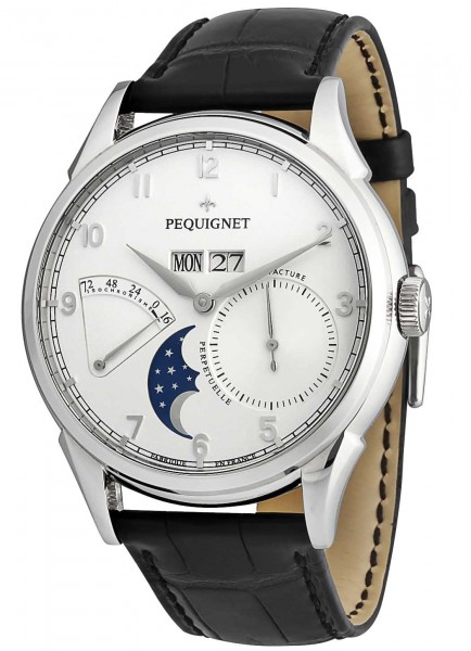 Pequignet Rue Royale Manufaktur Herrenuhr Mondphase 9030433 CN