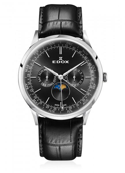 Edox Les Vauberts Moon Phase Complication 40101 3C NIN