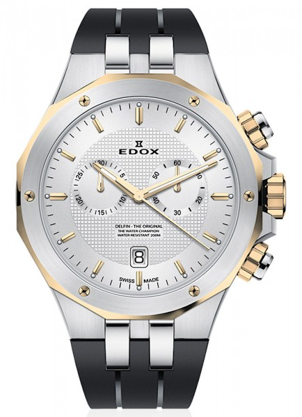 Edox Delfin Chronograph Datum Quarz 10110 357JCA AID
