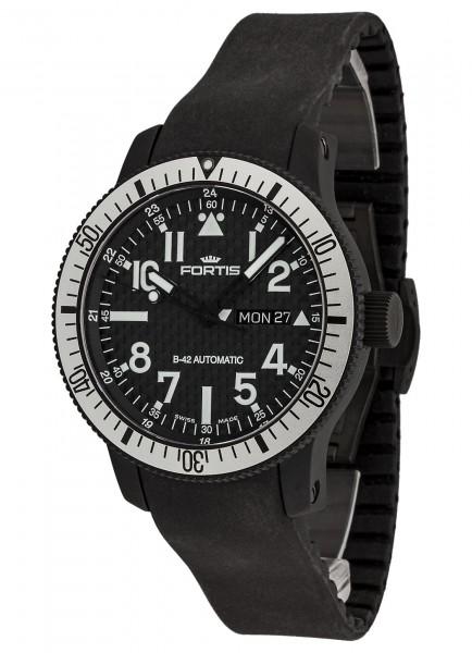 Fortis B-42 Black Titanium Carbon Dial Day/Date 647.28.61 K
