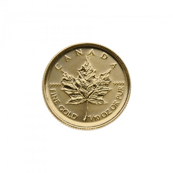 """1/10 oz Canada 2017 """"Gold Maple Leaf"""" 5 Dollar 999,9 Goldmünze"""