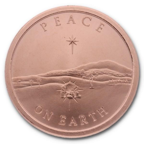 """1 Unze (AVDP) .999 fein Kupfer """"Peace on Earth / Silver Shield"""""""