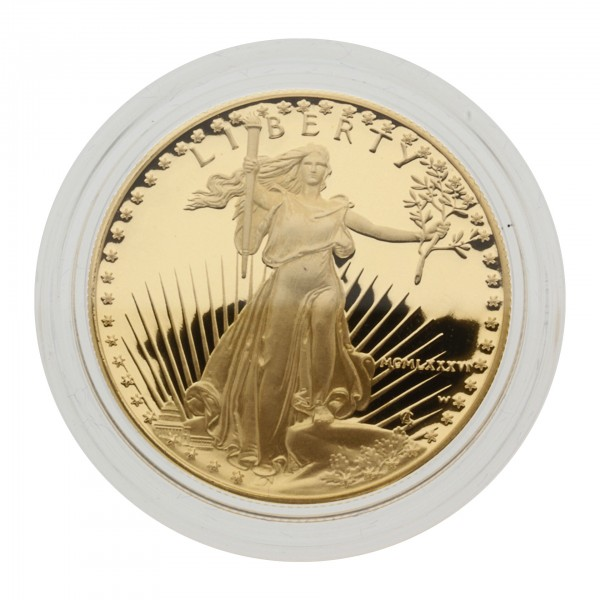 "1 oz USA 1986 ""American Gold Eagle"" 50 Dollar Goldmünze Proof/PP"