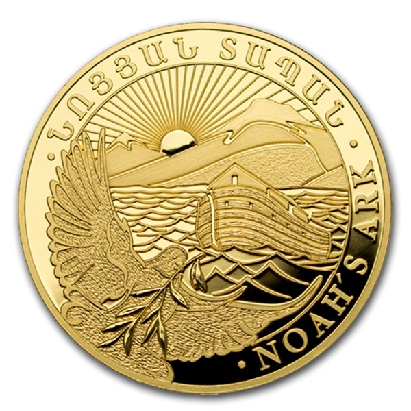 "1g Armenien 2017 ""Arche Noah"" .9999 Goldmünze Proof * Erstausgabe"