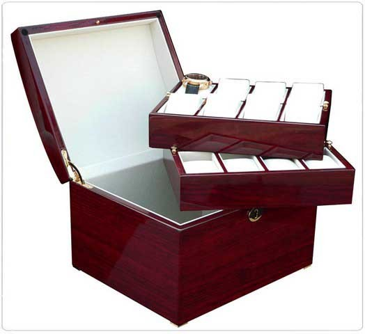 Uhrenbox für 16 Uhren / KIRSCH - 7610