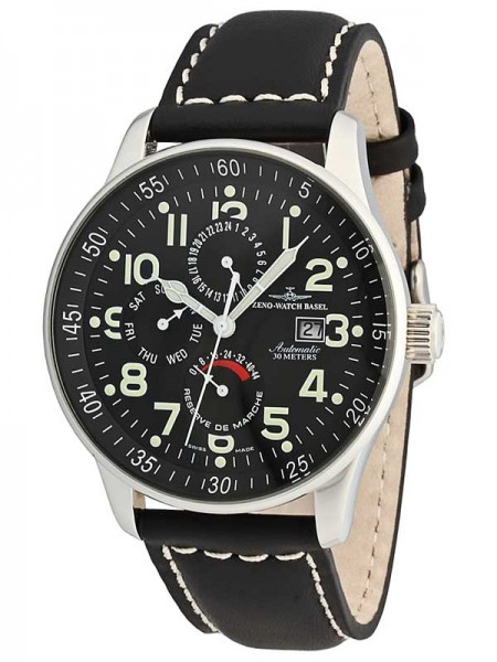 Zeno Watch Basel XL Pilot GMT Day-Date Power Reserve P555-a1