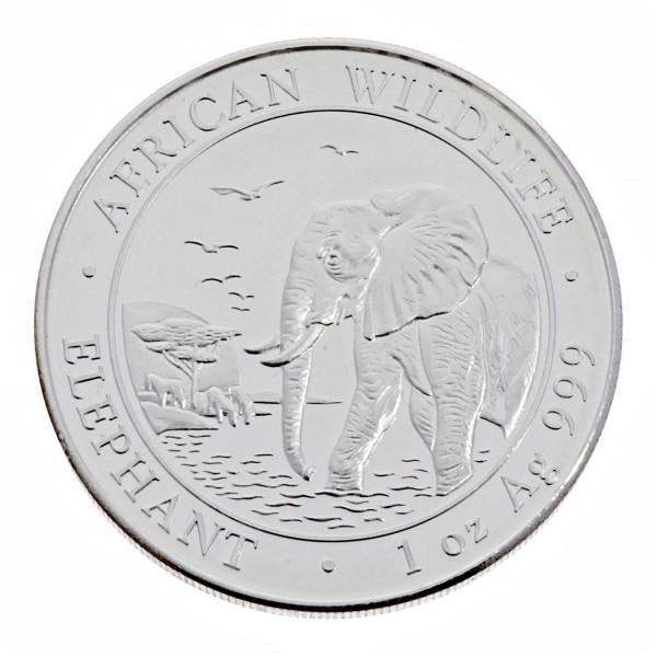 "1 oz Somalia Elefant 2010 ""African Wildlife"" 100 Schilling 999 Silber"