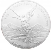 1 Kilo Mexiko 2009 Libertad Siegesgöttin 1 Kg 999/1000 Silber - gekapselt
