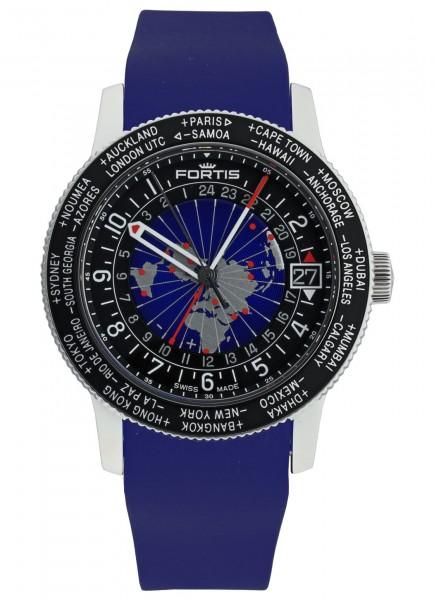 Fortis B-47 World Timer GMT 674.21.11 Si.05