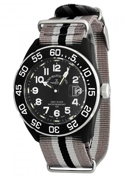 Zeno-Watch Basel H3 Teflon Date 6594Q-a1-Nato-31