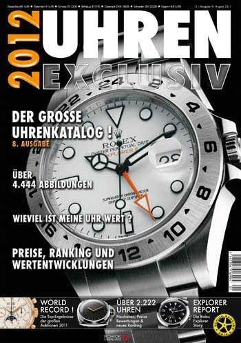 Uhren Exclusiv 2012 Uhrenkatalog