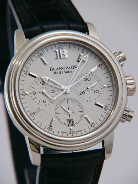 Blancpain Leman Half Hunter Chronograph Gold 3185-1542-53