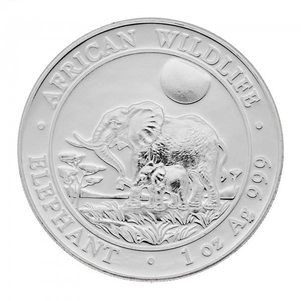 "1 oz Somalia Elefant 2011 ""African Wildlife"" 100 Schilling 999 Silber"