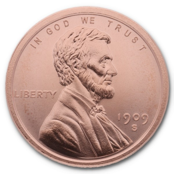 "1 Unze (AVDP) .999 fein Kupfer ""Lincoln Wheat Cent"""