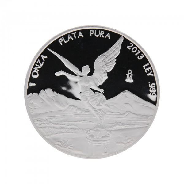 1 oz Mexiko 2013 Libertad Siegesgöttin Polierte Platte 1 Unze 999 Silber