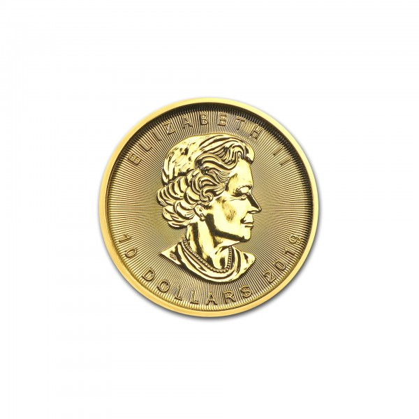 "1/4 oz Kanada 2019 ""Gold Maple Leaf"" 10 CAD 999,9 Goldmünze"