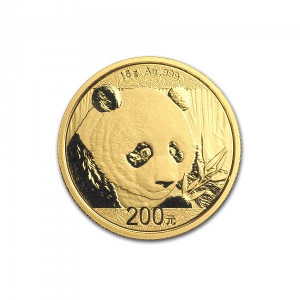"15 g China 2018 ""Panda"" 200 CNY Goldmünze 999/1000 Gold"