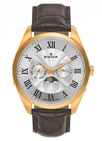 Edox Les Vauberts Day/Date Mondphase 40008 37J ARD