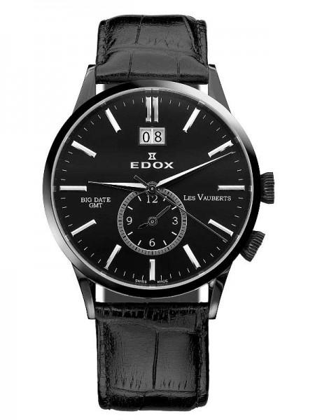Edox Les Vauberts GMT Big Date 62003 37N NIN