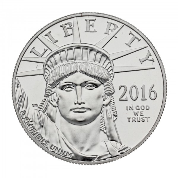 1 oz USA 2016 Platinmünze American Eagle 1 Unze 999.5/1000 Platin